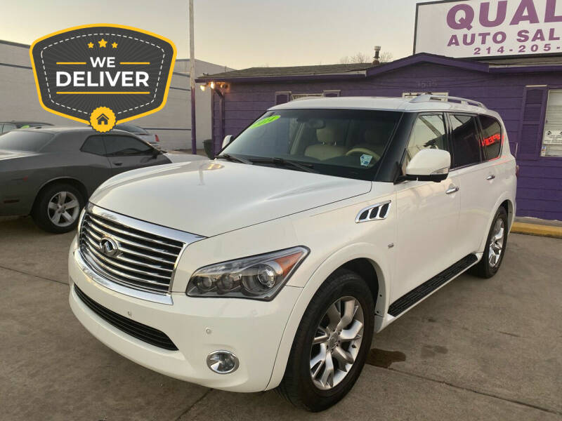 2014 Infiniti QX80 for sale at Quality Auto Sales LLC in Garland TX