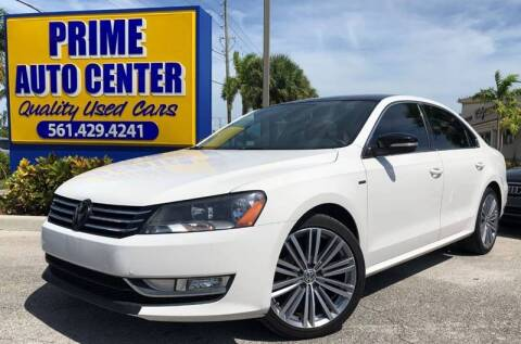2015 Volkswagen Passat for sale at PRIME AUTO CENTER in Palm Springs FL