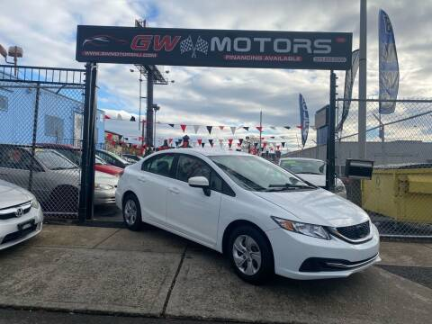 2014 Honda Civic for sale at GW MOTORS in Newark NJ