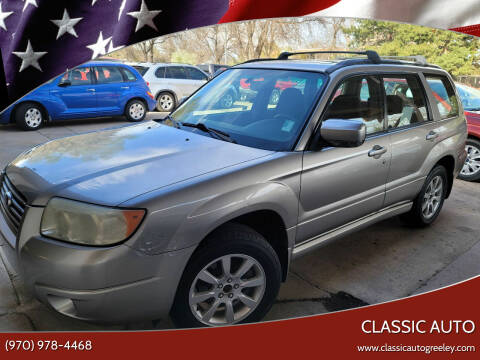 2007 Subaru Forester for sale at Classic Auto in Greeley CO