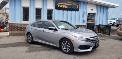 2016 Honda Civic for sale at Freeland LLC in Waukesha WI