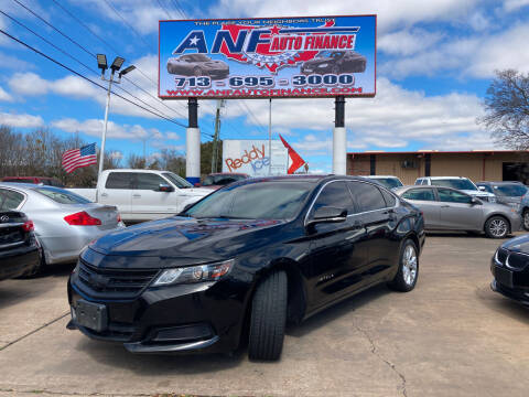 2015 Chevrolet Impala for sale at ANF AUTO FINANCE in Houston TX