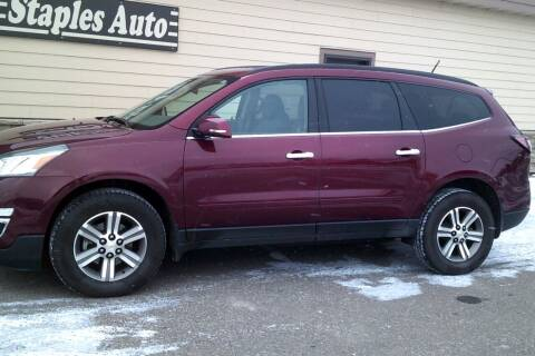 2016 Chevrolet Traverse for sale at STAPLES AUTO SALES in Staples MN