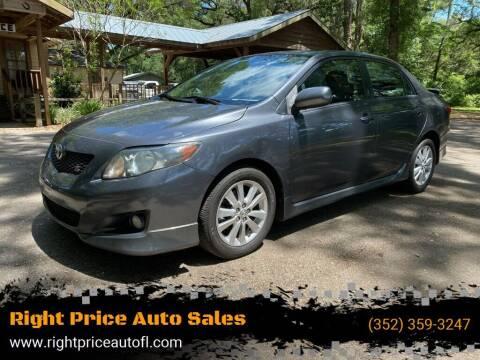 2010 Toyota Corolla for sale at Right Price Auto Sales-Gainesville in Gainesville FL
