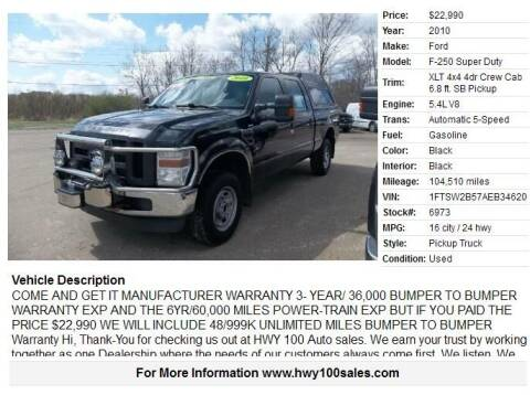 2010 Ford F-250 Super Duty for sale at Highway 100 & Loomis Road Sales in Franklin WI