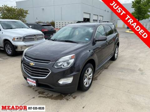 2016 Chevrolet Equinox for sale at Meador Dodge Chrysler Jeep RAM in Fort Worth TX
