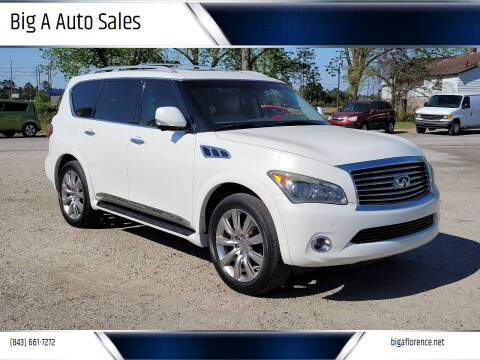 2012 Infiniti QX56 for sale at Big A Auto Sales Lot 2 in Florence SC