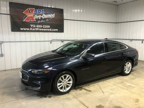 2017 Chevrolet Malibu for sale at Karl Pre-Owned in Glidden IA