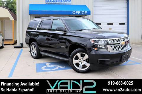 2015 Chevrolet Tahoe for sale at Van 2 Auto Sales Inc in Siler City NC