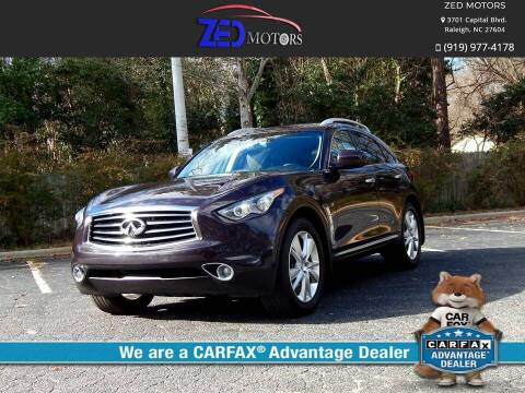 2015 Infiniti QX70 for sale at Zed Motors in Raleigh NC