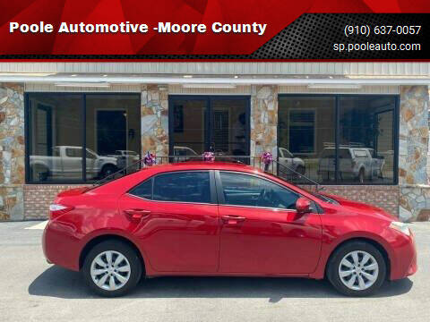 2014 Toyota Corolla for sale at Poole Automotive -Moore County in Aberdeen NC