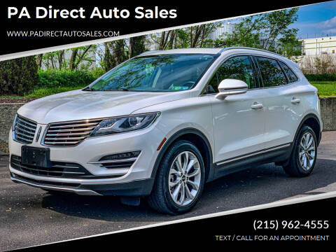 2017 Lincoln MKC for sale at PA Direct Auto Sales in Levittown PA