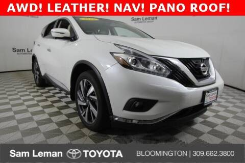 2016 Nissan Murano for sale at Sam Leman Toyota Bloomington in Bloomington IL