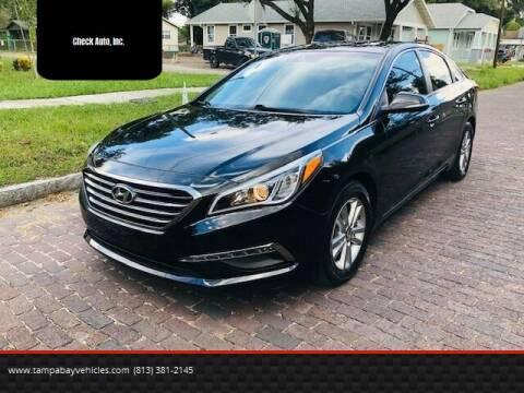 2015 Hyundai Sonata for sale at CHECK  AUTO INC. in Tampa FL