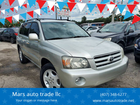 2006 Toyota Highlander for sale at Mars auto trade llc in Kissimmee FL