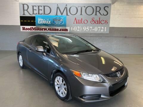 2012 Honda Civic for sale at REED MOTORS LLC in Phoenix AZ