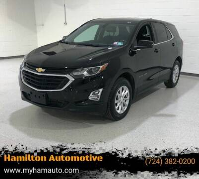 2019 Chevrolet Equinox for sale at Hamilton Automotive in North Huntingdon PA