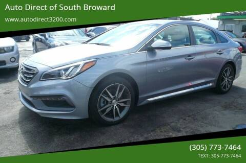 2017 Hyundai Sonata for sale at Auto Direct of South Broward in Miramar FL