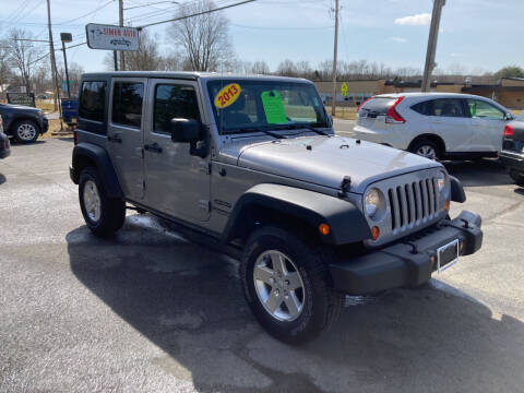 2013 Jeep Wrangler Unlimited for sale at JERRY SIMON AUTO SALES in Cambridge NY