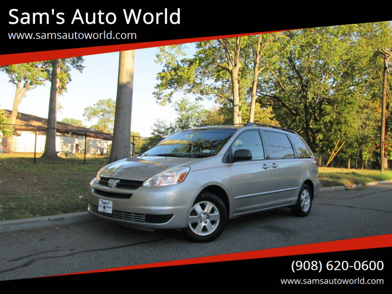 2005 Toyota Sienna for sale at Sam's Auto World in Roselle NJ