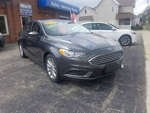 2017 Ford Fusion for sale at BELLEFONTAINE MOTOR SALES in Bellefontaine OH