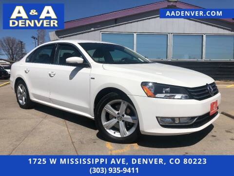 2015 Volkswagen Passat for sale at A & A AUTO LLC in Denver CO