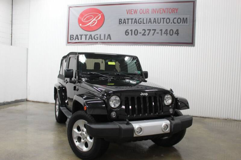 2015 Jeep Wrangler for sale at Battaglia Auto Sales in Plymouth Meeting PA