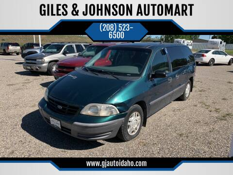 2000 Ford Windstar for sale at GILES & JOHNSON AUTOMART in Idaho Falls ID