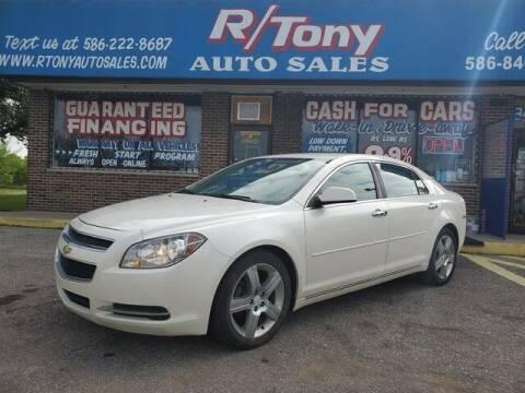 2012 Chevrolet Malibu for sale at R Tony Auto Sales in Clinton Township MI