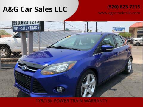 2014 Ford Focus for sale at A&G Car Sales  LLC in Tucson AZ