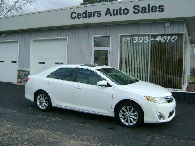 2012 Toyota Camry for sale at Cedar Auto Sales in Lansing MI