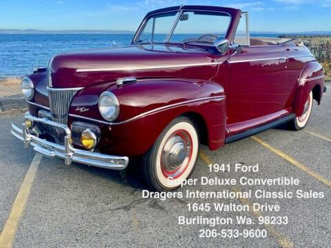 1941 Ford Super Deluxe for sale at Drager's International Classic Sales in Burlington WA