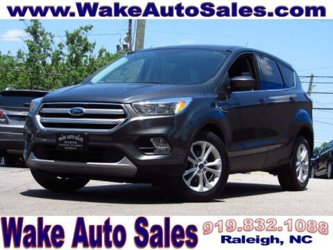 2017 Ford Escape for sale at Wake Auto Sales Inc in Raleigh NC