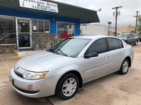2004 Saturn Ion for sale at Island Auto Sales in Colorado Springs CO