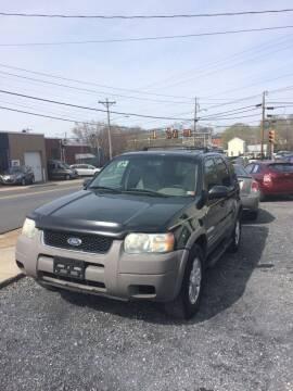 2001 Ford Escape for sale at Village Auto Center INC in Harrisonburg VA
