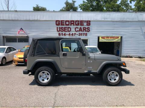 2004 Jeep Wrangler for sale at George's Used Cars Inc in Orbisonia PA