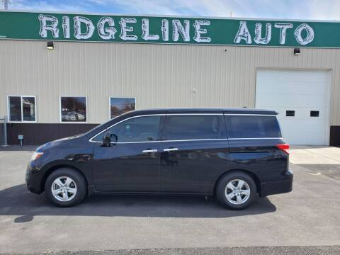 2012 Nissan Quest for sale at RIDGELINE AUTO in Chubbuck ID