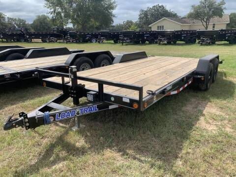2021 Load Trail XH8318 83X18 LOWBOY SLIDE IN R for sale at The Trailer Lot in Hallettsville TX