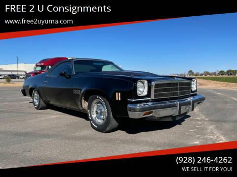 1974 Chevrolet El Camino for sale at FREE 2 U Consignments in Yuma AZ