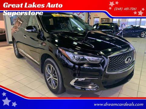 2019 Infiniti QX60 for sale at Great Lakes Auto Superstore in Pontiac MI