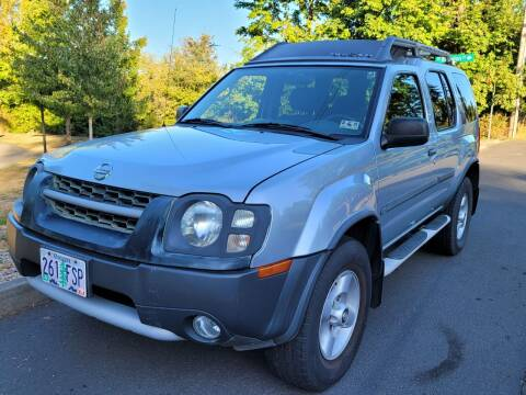 2002 Nissan Xterra for sale at CLEAR CHOICE AUTOMOTIVE in Milwaukie OR