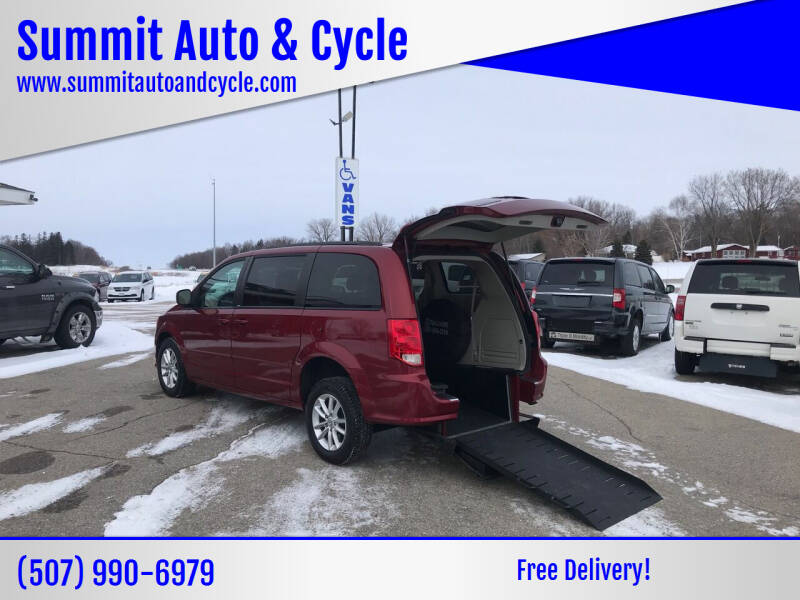 2014 Dodge Grand Caravan for sale at Summit Auto & Cycle in Zumbrota MN