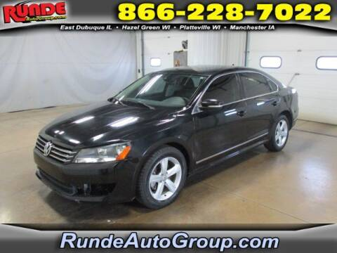 2014 Volkswagen Passat for sale at Runde Chevrolet in East Dubuque IL