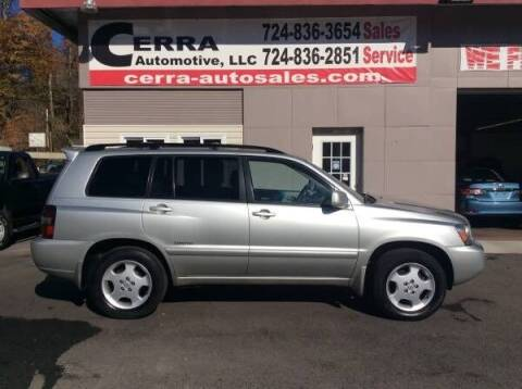 2007 Toyota Highlander for sale at Cerra Automotive LLC in Greensburg PA