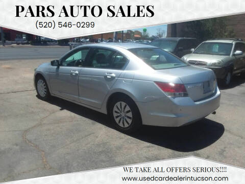 2010 Honda Accord for sale at PARS AUTO SALES in Tucson AZ