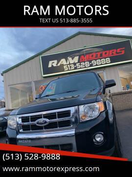 2012 Ford Escape for sale at RAM MOTORS in Cincinnati OH