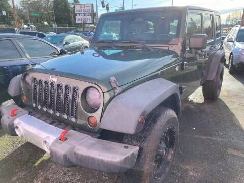 2008 Jeep Wrangler Unlimited for sale at SNS AUTO SALES in Seattle WA