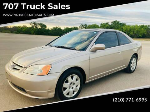 2002 Honda Civic for sale at 707 Truck Sales in San Antonio TX