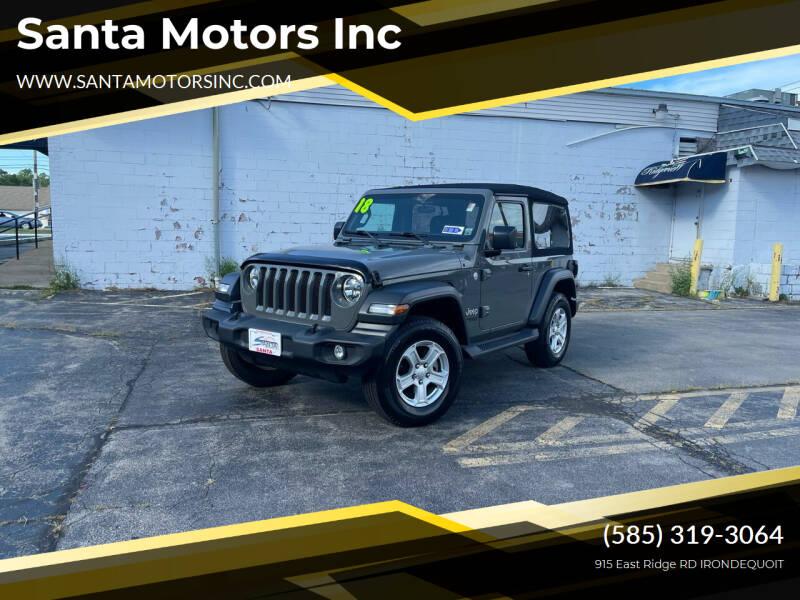 2018 Jeep Wrangler for sale at Santa Motors Inc in Rochester NY