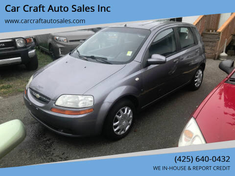 2007 Chevrolet Aveo for sale at Car Craft Auto Sales Inc in Lynnwood WA